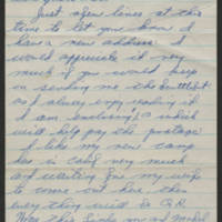1945-01-10 Clarence Miller to Dave Elder Page 1