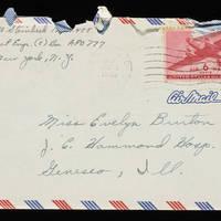1945-11-04 Carroll Steinbeck to Evelyn Burton - Envelope