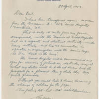 1943-04-28 Cmdr. Roy M. Mayne to Mr. W. Earl Hall