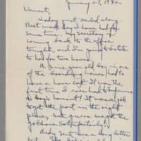 1942-01-27 Laura Davis to Lloyd Davis Page 1