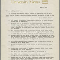 1970-05-12 University Memo regarding Student Options during Unrest Page 1