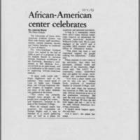 "1993-10-04 Iowa City Press-Citizen Article: ""African-American center celebrates"""