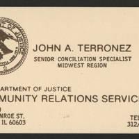 John A. Terronez Card -- Senior Conciliation Specialist