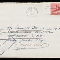 1946-03-10 Evelyn Burton to Carroll Steinbeck - Envelope