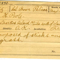 Horace Poole, egg card # hp002u