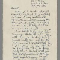 1942-07-24 Laura Davis to Lloyd Davis Page 1