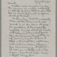 1945-07-23 Laura Davis to Lloyd Davis Page 1