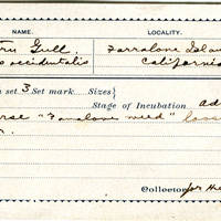 Henry R Taylor, egg card # hrt001u