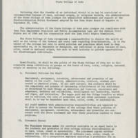 1964-09-25 Nondiscrimination Policy Statement for State College of Iowa Page 1