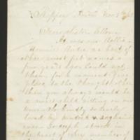 Letters to Ellen Mowrer Miller from Sarah, 1869-1905