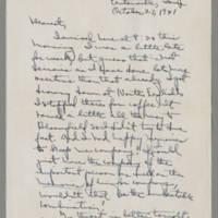 1941-10-27 Laura Davis to Lloyd Davis Page 1