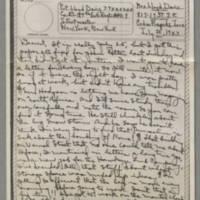 1943-07-20 Laura Davis to Lloyd Davis Page 1
