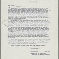 1982-10-06 Letter from Tess Catalano