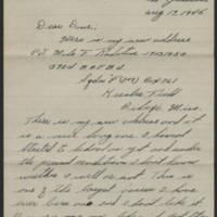 1945-08-19 Pvt. Milo F. Ralston to Dave Elder Page 1