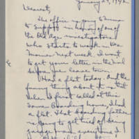 1942-01-29 Laura Davis to Lloyd Davis Page 1