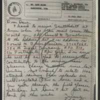 1945-07-11 Earnest L. Moothart to Dave Elder