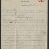 1918-01-04 Harvey Wertz to Eloise Wertz Page 1