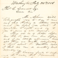 John P. Cook correspondence with Thomas C. Durant, Washington, D.C., 1856-1857