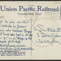 1944-12-20 Sgt. J.S. McElhinney to Dave Elder Postcard