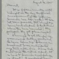 1945-08-14 Laura Davis to Lloyd Davis Page 1