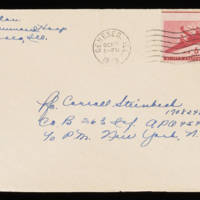 1945-10-17 Evelyn Burton to Carroll Steinbeck - Envelope