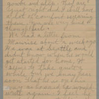 1945-11-22 Letter to Laura Frances Davis Page 2