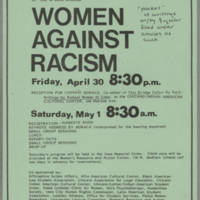 Women Against Racism records, 1982-1984