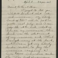 1918-04-08 Thomas Messenger to Mr. & Mrs. N.H. Messenger Page 1