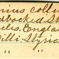 Clinton Mellen Jones, egg card # 660