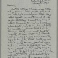 1943-02-21 Laura Davis to Lloyd Davis Page 1