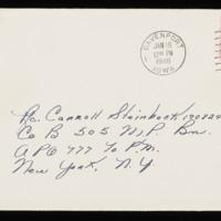 1946-01-14 Evelyn Burton to Carroll Steinbeck - Envelope