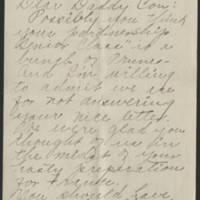 1918-03-29 Trix B. Croft to Conger Reynolds Page 1