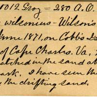 Clinton Mellen Jones, egg card # 564