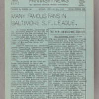 Fantasy-News, v. 5, issue 16, whole no. 121, October 13, 1940