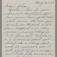 1945-05-21 George Davis to Lloyd Davis Page 1