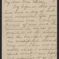 Cora C. to Mrs. Francis E. Whitley Page 1