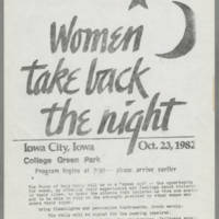 1982-10-23 Women Take Back The Night