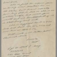 1946-03-12 Sgt. Willard E. Gray to Dave Elder