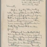 1941-12-17 Laura Davis to Lloyd Davis Page 1