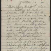 1918-03-06 Thomas Messenger to Vera Wade Page 1
