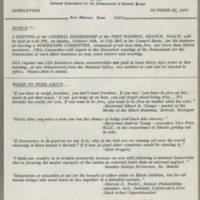 1970-10-15 Newsletter, Fort Madison Branch of the NAACP Page 1