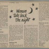 1982-10-22 Letters to the Editor regarding Take Back the Night Rally