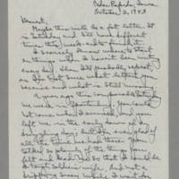 1943-10-02 Laura Davis to Lloyd Davis Page 1