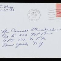 1946-01-27 Evelyn Burton to Carroll Steinbeck - Envelope