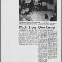 "1968-11-15 Daily Iowan Article: ""Blacks Enjoy Own Center"""