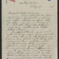 1918-05-19 Thomas Messenger to Mr. & Mrs. N.H. Messenger Page 1