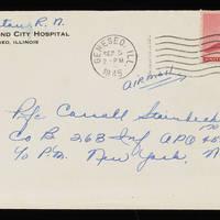 1945-09-04 Evelyn Burton to Carroll Steinbeck - Envelope