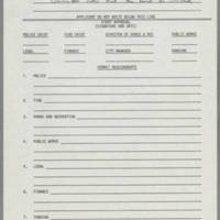 1982-10-23 Application Form for Use of Streets and Public Grounds For Parades and Other Events Page 4