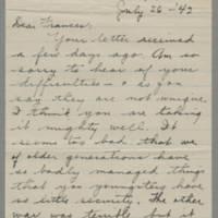 1942-07-26 Freda Crippen to Laura Frances Davis Page 1