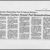"1971-11-16 Iowa City Press-Citizen Article: """"Student-Police Panel Discussion Centers Around Past Demonstrations"""" Page 2"